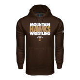 Under Armour Brown Performance Sweats Team Hoodie-Mountain Hawks Wrestling