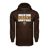 Under Armour Brown Performance Sweats Team Hoodie-Mountain Hawks Basketball