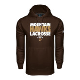 Under Armour Brown Performance Sweats Team Hoodie-Mountain Hawks Lacrosse