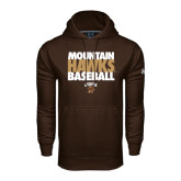 Under Armour Brown Performance Sweats Team Hoodie-Mountain Hawks Baseball