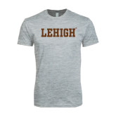 Next Level SoftStyle Heather Grey T Shirt-Flat Lehigh