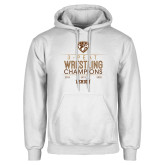 White Fleece Hoodie-2020 Wrestling Champs