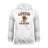 White Fleece Hood-Lacrosse