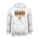 White Fleece Hoodie-Mountain Hawks Football