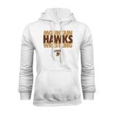 White Fleece Hoodie-Mountain Hawks Wrestling