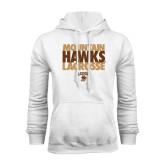 White Fleece Hoodie-Mountain Hawks Lacrosse