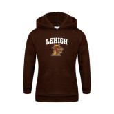 Youth Brown Fleece Hoodie-Official Logo