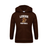 Youth Brown Fleece Hood-Football