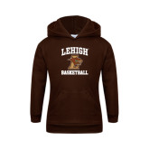 Youth Brown Fleece Hood-Basketball