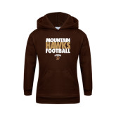Youth Brown Fleece Hoodie-Mountain Hawks Football