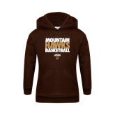 Youth Brown Fleece Hoodie-Mountain Hawks Basketball