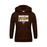 Youth Brown Fleece Hood-Mountain Hawks Lacrosse