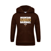 Youth Brown Fleece Hoodie-Mountain Hawks Baseball