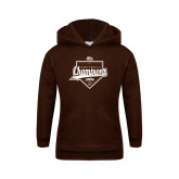Youth Brown Fleece Hood-2017 Patriot League Softball Champions