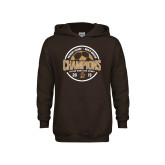 Youth Brown Fleece Hoodie-2019 Mens Soccer Champions