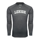 Under Armour Carbon Heather Long Sleeve Tech Tee-Arched Lehigh