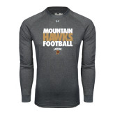 Under Armour Carbon Heather Long Sleeve Tech Tee-Mountain Hawks Football