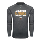Under Armour Carbon Heather Long Sleeve Tech Tee-Mountain Hawks Wrestling