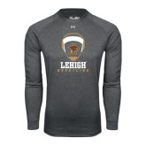 Under Armour Carbon Heather Long Sleeve Tech Tee-Lehigh Wrestling Stacked w/Headgear