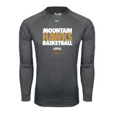 Under Armour Carbon Heather Long Sleeve Tech Tee-Mountain Hawks Basketball
