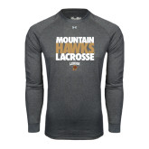 Under Armour Carbon Heather Long Sleeve Tech Tee-Mountain Hawks Lacrosse