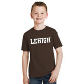 Youth Brown T Shirt-Flat Lehigh
