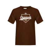 Youth Brown T Shirt-2017 Patriot League Softball Champions