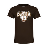 Youth Brown T Shirt-2017 Patriot League Football Champions 2