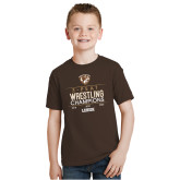 Youth Brown T Shirt-2020 Wrestling Champs