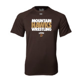 Under Armour Brown Tech Tee-Mountain Hawks Wrestling