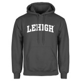 Charcoal Fleece Hoodie-Arched Lehigh