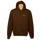 Brown Fleece Hood-Lehigh Arched