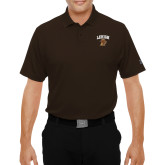 Under Armour Brown Performance Polo-Official Logo