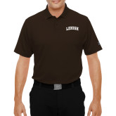 Under Armour Brown Performance Polo-Arched Lehigh