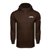 Under Armour Brown Performance Sweats Team Hoodie-Arched Lehigh