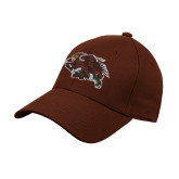 Brown Heavyweight Twill Pro Style Hat-Running Hawk