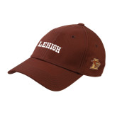 Brown Twill Unstructured Low Profile Hat-Flat Lehigh