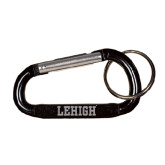 Black Carabiner with Split Ring-Flat Lehigh Engraved