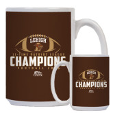 Full Color White Mug 15oz-11-Time Patriot League Champions Football 2016