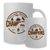 Full Color White Mug 15oz-2019 Mens Soccer Champions
