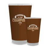 Full Color Glass 17oz-2017 Patriot League Football Champions