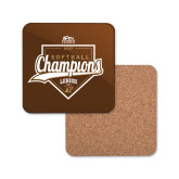 Hardboard Coaster w/Cork Backing-2017 Patriot League Softball Champions