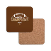 Hardboard Coaster w/Cork Backing-2017 Patriot League Football Champions
