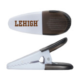 White Crocodile Clip/Magnet-Flat Lehigh