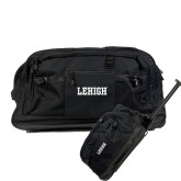 Urban Passage Wheeled Black Duffel-Flat Lehigh
