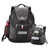 High Sierra Big Wig Black Compu Backpack-Flat Lehigh