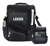 Momentum Black Computer Messenger Bag-Flat Lehigh