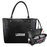 Sophia Checkpoint Friendly Black Compu Tote-Flat Lehigh