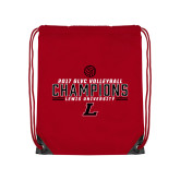 Red Drawstring Backpack-2017 Volleyball Champions