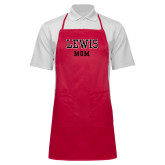 Full Length Red Apron-Mom